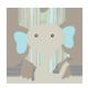Cuddly Blue Elephant