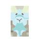 Cuddly Blue Giraffe