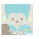Cuddly Blue Monkey