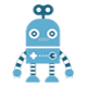 Blue Standing Robot