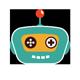 Turquoise Robot Head