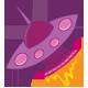 Space - Purple UFO