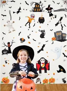 BoscoBear Halloween Kids Wall Stickers