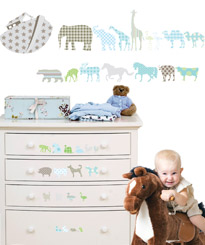 NOAH'S ARK: KIDS WALL STICKERS FOR BABIES