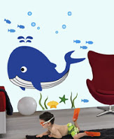 SPOT GIANT CHARACTER WALL STICKERS UNDER THE SEA