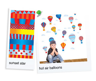 UP, UP, AND AWAY: BOSCOBEAR'S HOT AIR BALLOONS WALL STICKERS FOR BOYS