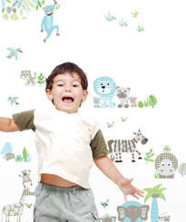 THERE IS SOMETHING JUMPING IN THE JUNGLE (WALL STICKERS FOR KIDS)
