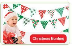 BOSCOBEAR CHRISTMAS BUNTING: DESIGNED FOR 'HANDS-ON' KIDS