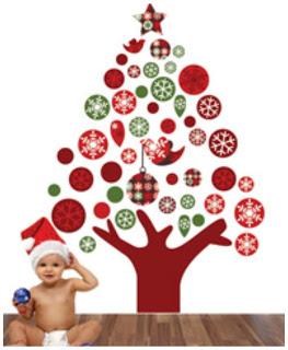 SO POPULAR! BOSCOBEAR'S RED, GREEN, & WHITE FLOATING CHRISTMAS TREE
