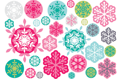 TRANSPARENT SNOWFLAKES: CHRISTMAS DRESSUP FOR WINDOWS