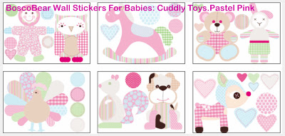 DECORATE YOUR BABY'S NURSERY WALLS WITH CUDDLY TOYS WALL STICKERS