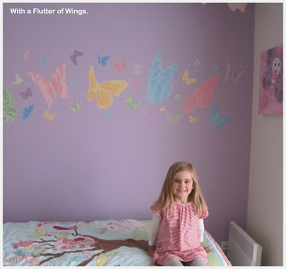 CASEY DECORATES HER ROOM WITH PASTEL BUTTERFLIES