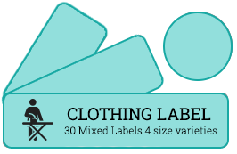 Clothing Labels - 30 Mixed Labels 4 size varieties