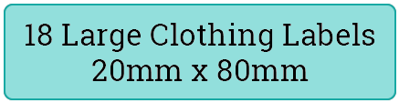 18 large cloth labels / 2 sheets per pack