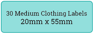 30 medium cloth labels / 2 sheets per pack