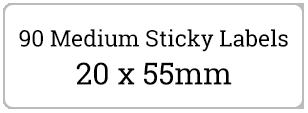 90 medium Labels / 6 sheets per pack