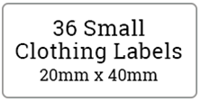 36 small cloth labels / 2 sheets per pack